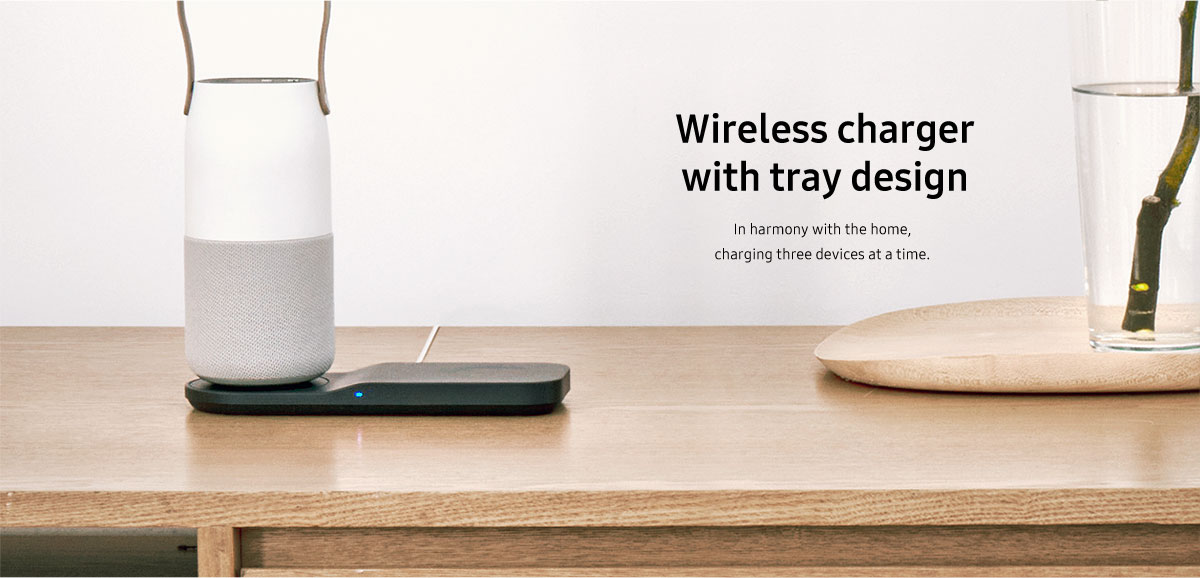 Wireless Charger with Tray Design