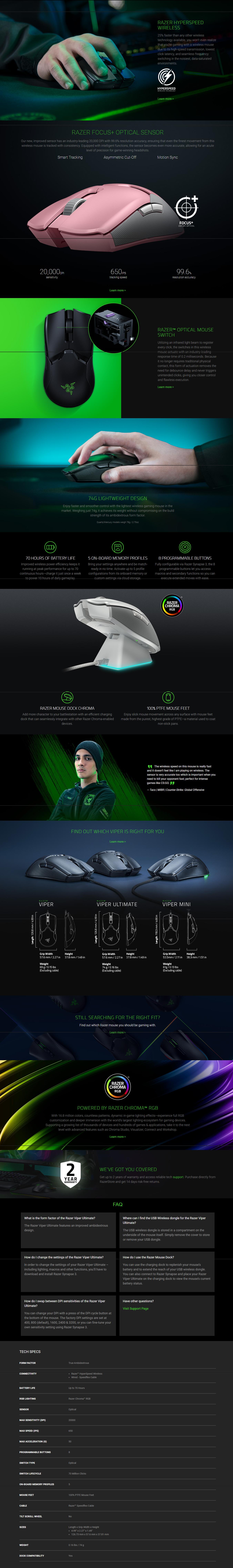 Razer Viper Gaming Mice